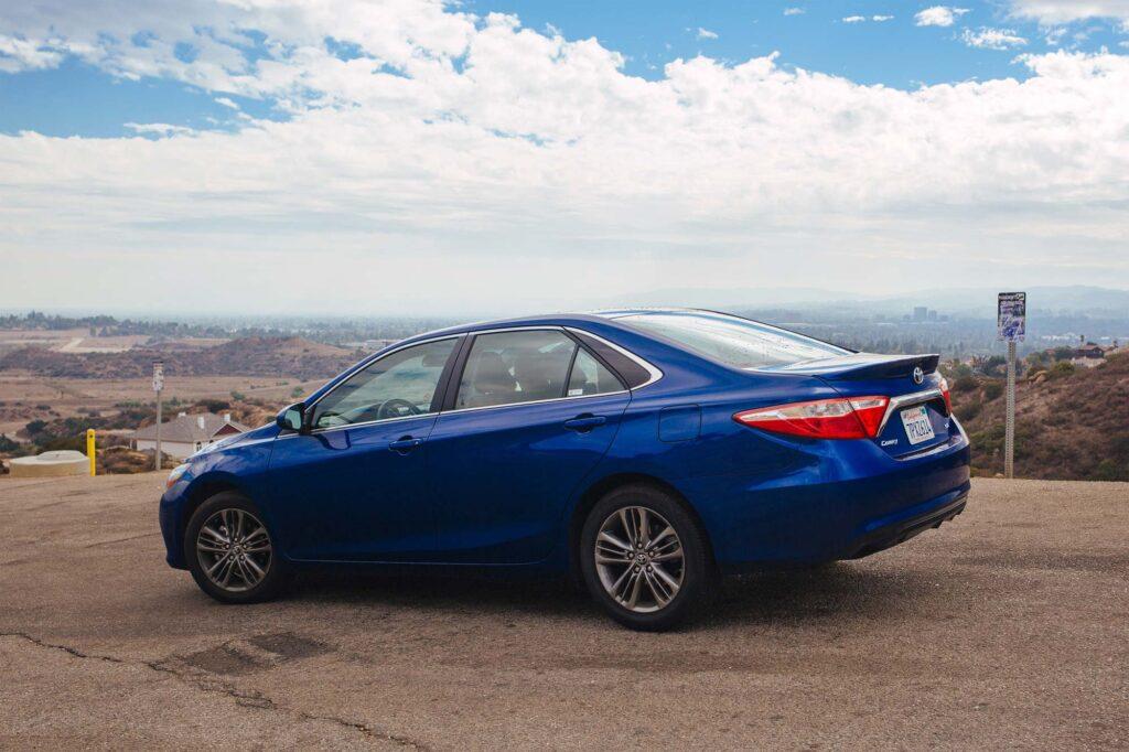 Blue Toyota Camry