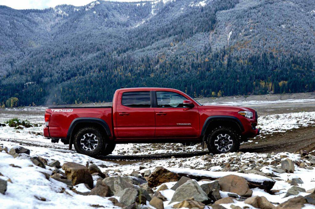 Red Toyota Tacoma