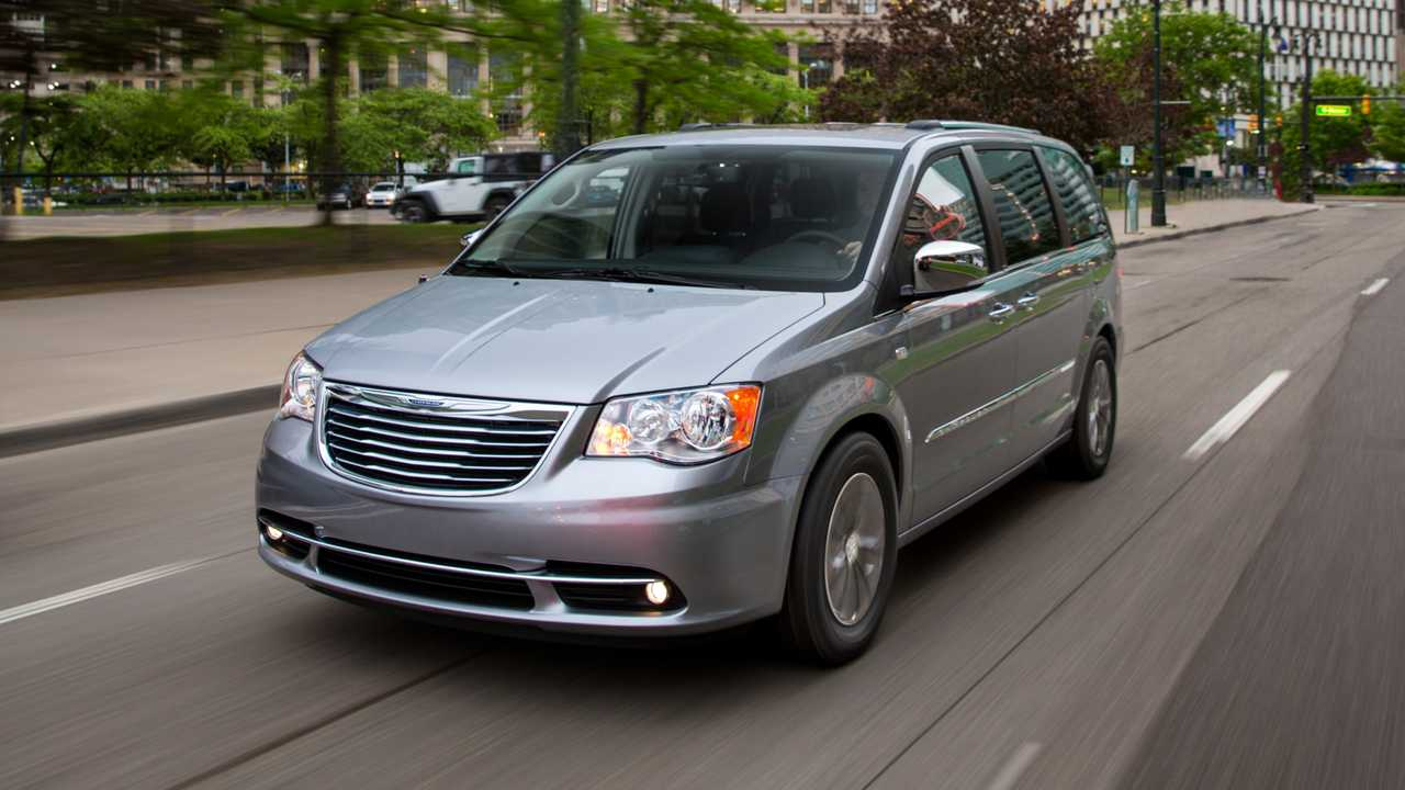 Silver Chrysler Town & Country