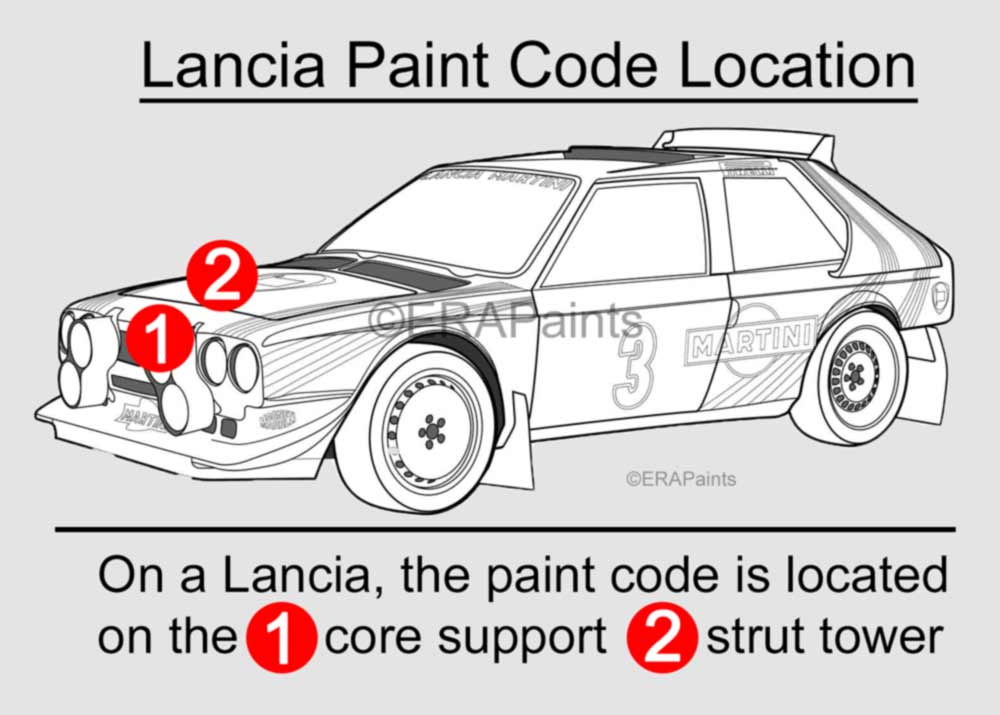 Lancia Paint Code Location